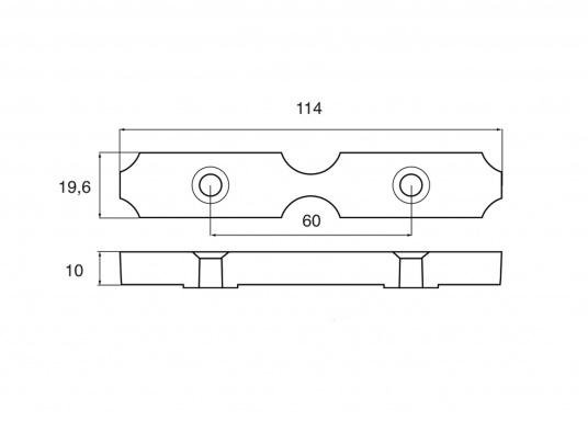 Passende Zinkanode für Yamaha und Mariner Außenborder. Original Teilenummer: 6AW-1132M-00. (Bild 2 von 2)