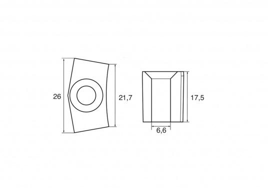 Passende Zinkanode für Yamaha und Mariner Außenborder. Original Teilenummer: 6AW-1132P-00. (Bild 2 von 2)