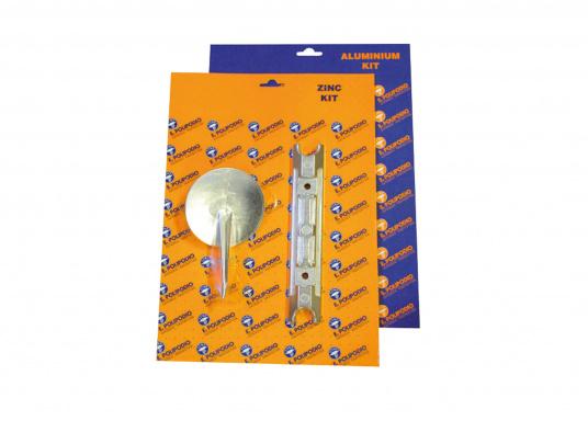 Anoden Set für Yamaha und Mariner Außenborder. Erhältlich in Zink und Aluminium. Das Set beinhaltet die Bestandteile: YA004 und YA019.