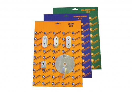 Anoden Set für Yamaha und Mariner Außenborder. Erhältlich in Zink, Aluminium und Magnesium. Das Set beinhaltet die Bestandteile: 3x YA033, YA030 und YA006B.