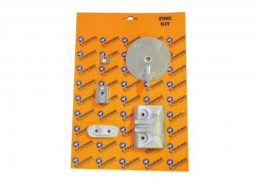 Zinkanoden Set für Yamaha und Mariner Außenborder. Das Set beinhaltet die Bestandteile: YA006, YA033, YA031, YA030 und YA045.