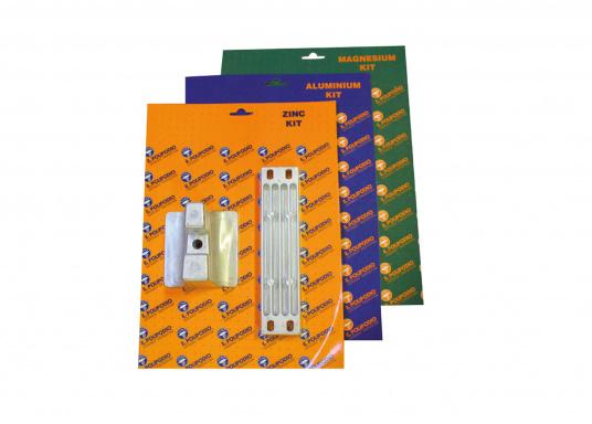 Anoden Set für Yamaha und Mariner Außenborder der Serie 300 - 350. Erhältlich in Zink, Aluminium und Magnesium. Das Set beinhaltet die Bestandteile: YA073 und YA074.