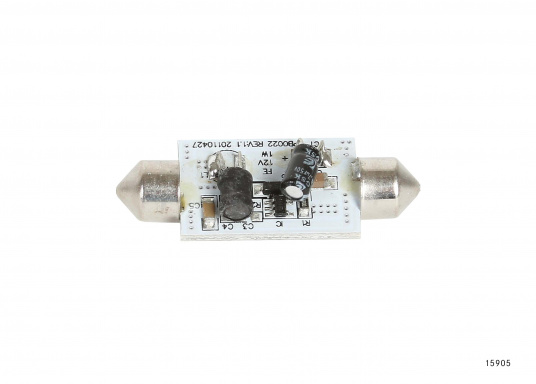Diese zylindrische click-in Soffitte liefertwarmweißes Licht.  (Bild 2 von 2)