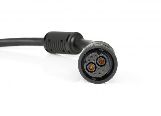 Das Spannungs- und Datenkabel von Raymarine verfügt über einen geraden Stecker und unterteilt sich in Strom- und NMEA0183-Litzen. Die Länge beträgt 1,5 m. (Bild 3 von 3)