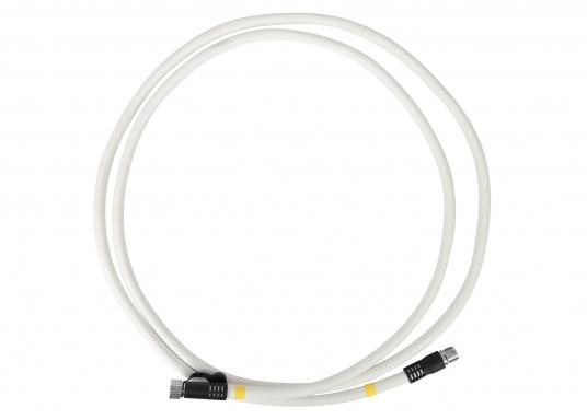 Verlängerungskabel für digitale Radarantennen von Raymarine. Das Kabel hat jeweils einen männlichen und einen weiblichen Radar-Stecker an jedem Ende und übermittelt den Strom und die Ethernet-Daten. Erhältlich in unterschiedlichen Längen.