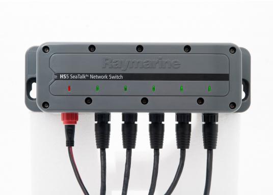 Der RayNet Netzwerkswitch (HS5) ermöglicht die Erweiterung des Netzwerks und verfügt über 5 RayNet-Anschlüsse. (Bild 3 von 3)