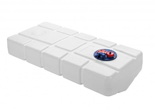 Fuel tank made of high-quality Eltex polyethylene, CE approved for use as a diesel or petrol tank. The tank runs downwards. Connection kit included. (Image 2 of 5)