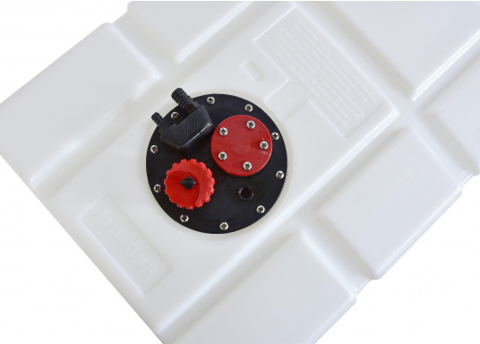 Fuel tank made of high-quality Eltex polyethylene, CE approved for use as a diesel or petrol tank. The tank runs downwards. Connection kit included. (Image 3 of 5)