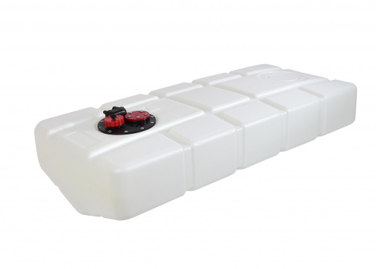 Fuel tank made of high-quality Eltex polyethylene, CE approved for use as a diesel or petrol tank. The tank runs downwards. Connection kit included.
