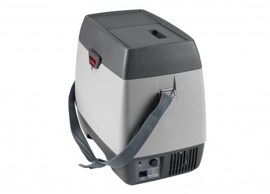 This ENGEL cooler consists of high-quality ABS material, has a capacity of 14 liters and has a fully-adjustable temperature range with control light. Designed for 12V operation. (Image 2 of 4)