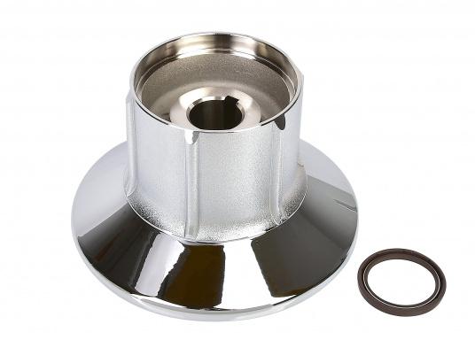 Für die Ankerwinde FALKON bieten wir Ihnen das Unterteil der Trommel an. Material aus bronze verchromt.