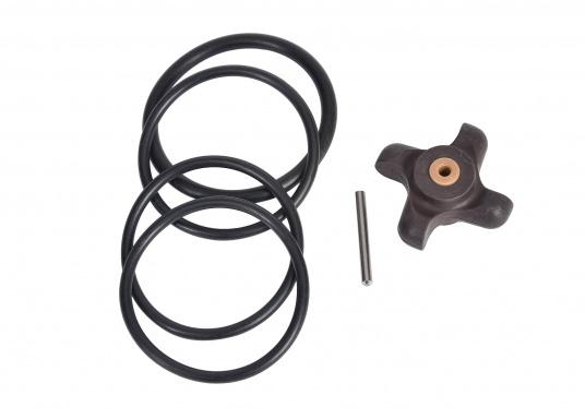 Paddle wheel and valve kit for the DST800 thru-hull transducer by Airmar.