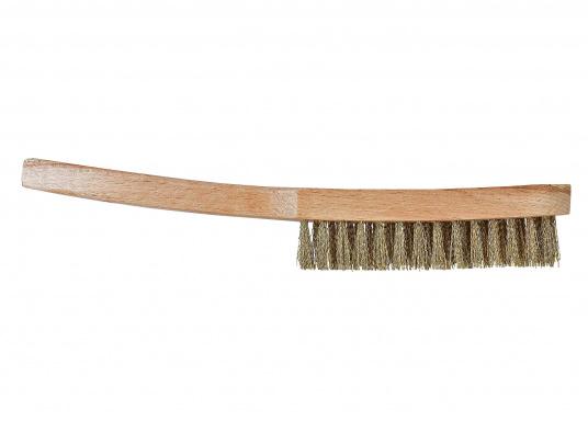 Langlebige und robuste Drahtbürstemit Messing Borsten, gewellt, 3-reihig.
