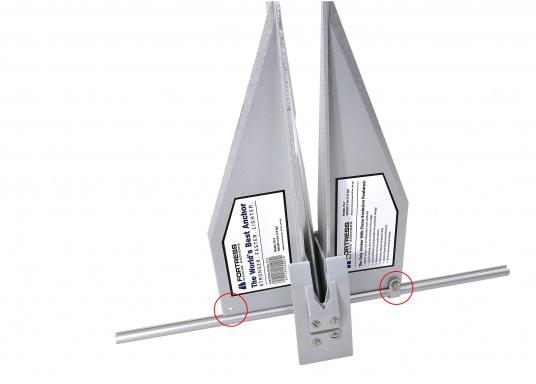 Der FORTRESS Anker wird aus einer hochfesten Aluminium-Magnesium-Legierung gefertigt. Diese sorgt für eine besonders starke Haltekraft bei äußerst geringem Gewicht. (Bild 3 von 8)