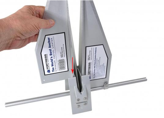 Der FORTRESS Anker wird aus einer hochfesten Aluminium-Magnesium-Legierung gefertigt. Diese sorgt für eine besonders starke Haltekraft bei äußerst geringem Gewicht. (Bild 4 von 8)