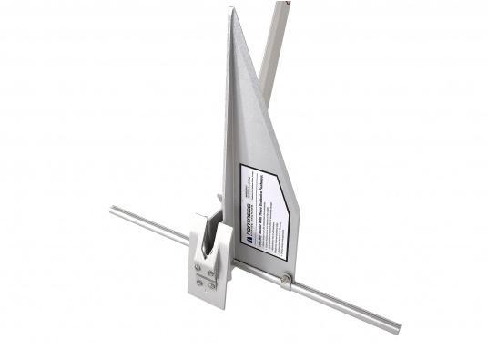 Der FORTRESS Anker wird aus einer hochfesten Aluminium-Magnesium-Legierung gefertigt. Diese sorgt für eine besonders starke Haltekraft bei äußerst geringem Gewicht. (Bild 5 von 8)