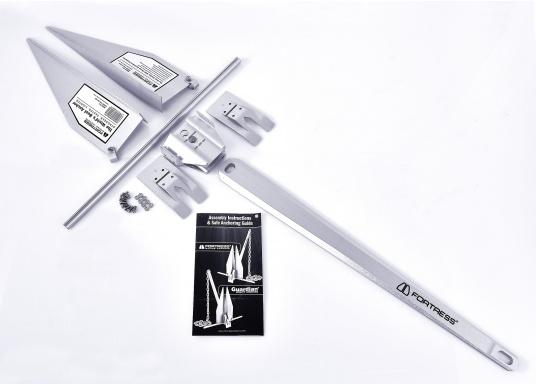 Der FORTRESS Anker wird aus einer hochfesten Aluminium-Magnesium-Legierung gefertigt. Diese sorgt für eine besonders starke Haltekraft bei äußerst geringem Gewicht. (Bild 8 von 8)