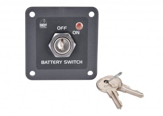 Das BEPMARINE Schaltpanel 722-KS ist ideal für Anwendungen geeignet, bei denen ein Schlüsselschalter benötigt wird. Betriebsfertig montiert und ausgerüstet mit einem ON/OFF-Schalter und einer LED-Betriebsanzeige. (Bild 4 von 4)