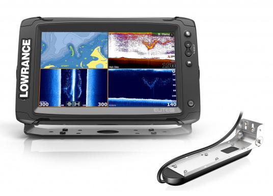 Lowrance® Elite-9Ti ist ein Touchscreen-Fischfinder/Kartenplotter, der eine breite Palette von Funktionen und Features bietet.