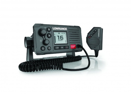 Communicate clearly with this reliable class D DSC approved marine radio. Featuring a four-button handset/microphone, intuitive control buttons and a front-mountable design for easy installation onboard. (Image 2 of 2)