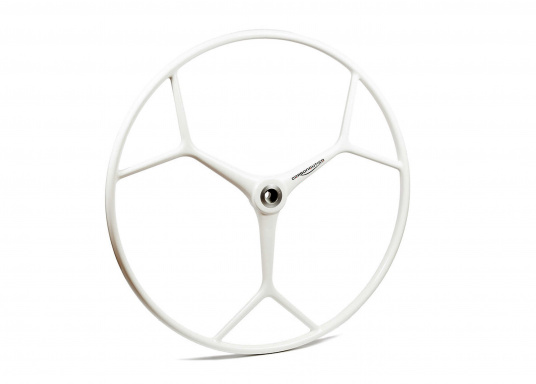 Das originale Sportsteuerrad aus glasfaserverstärkten Kunststoff für Ihre BAVARIA Yacht überzeugt mit einer hervorragenden Funktionalität und einem zeitlos schönen Design.