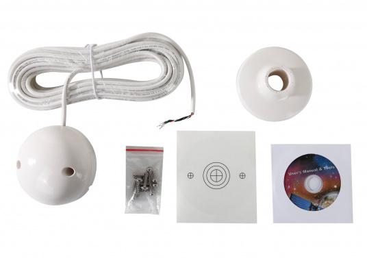 Aktiver 48Kanal GPS Empfänger für den Einsatz an Plottern, DSC-Funkgeräten und anderer Marine Elektronik. Stromversorgung über das 12 / 24 Volt Bordnetz. Kann mit dem offenen Kabel (RS-232) an viele NMEA0183-fähige Geräte angeschlossen werden. (Bild 3 von 3)