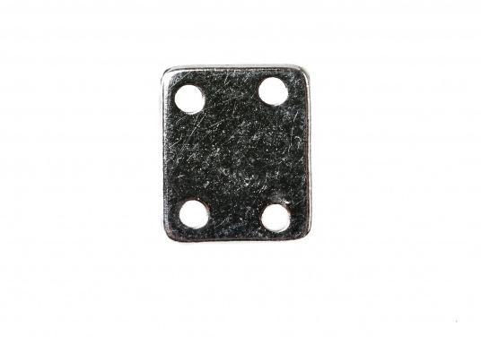 Der originale Bavaria Haken mit gerader Platte dient zur Arretierung Ihres Ankerkastendeckels. Abmessungen: 29 x 24 mm. (Bild 3 von 5)