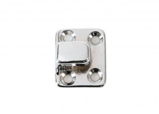 Der originale Bavaria Haken mit gerader Platte dient zur Arretierung Ihres Ankerkastendeckels. Abmessungen: 29 x 24 mm.