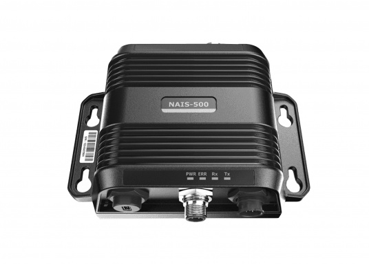 AIS-Transponder NAIS-500 von Navico. Im Lieferumfang sind folgende Komponenten enthalten: AIS-Transponder NAIS-500, GPS-Antenne GPS-500, 1,8 m NMEA2000 Kabel sowie ein NMEA2000 T-Stück.