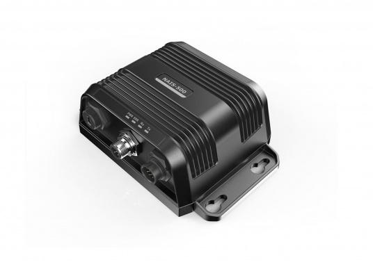 AIS-Transponder NAIS-500 von Navico. Im Lieferumfang sind folgende Komponenten enthalten: AIS-Transponder NAIS-500, GPS-Antenne GPS-500, 1,8 m NMEA2000 Kabel sowie ein NMEA2000 T-Stück. (Bild 2 von 5)