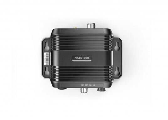 AIS-Transponder NAIS-500 von Navico. Im Lieferumfang sind folgende Komponenten enthalten: AIS-Transponder NAIS-500, GPS-Antenne GPS-500, 1,8 m NMEA2000 Kabel sowie ein NMEA2000 T-Stück. (Bild 3 von 5)
