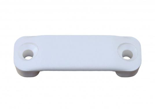 Originaler Gurtbügel für die Fäkelientankhalterung Ihrer Yacht von BAVARIA. Der Gurtbügel besteht aus PVC, hat eine Länge von 50 mm und ist für Gurte mit 30 mm Breite geeignet. Farbe: weiß.