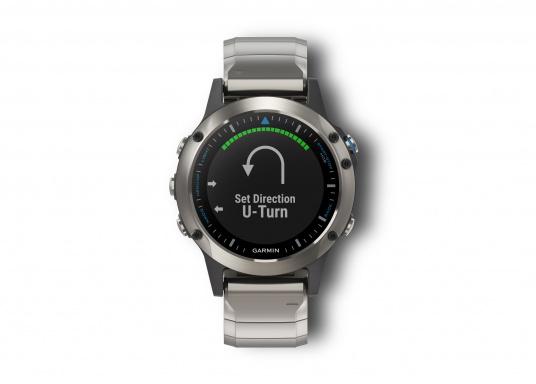 La Smartwatch Garmin QUATIX 5 Edition Saphir est conçue spécialement pour la navigation. (Image 2 de 6)
