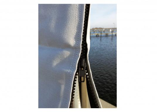 Very durable and extremely weather resistant mainsail cover made out of UV resistant and breathable material. Several sizes are available.  (Image 2 of 3)