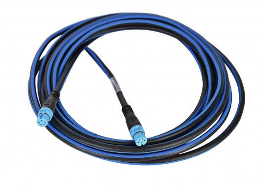 In einer Bavaria SeaTalkNG Installation verläuft das Backbone-Kabel einmal durch das ganze Boot. Einzelne Geräte werden an den Backbone über ein T-Stückmit einem Spurkabel angeschlossen. Das Kabel ist erhältlich in zwei unterschiedlichen Längen.  (Bild 2 von 2)