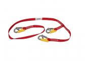 Lifeline with 3 carabiners / with indicator