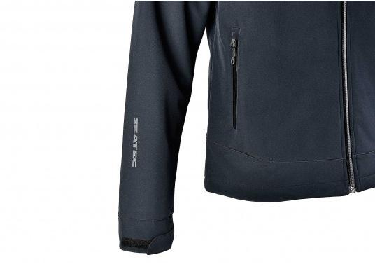 Die sportliche SEATEC Softshell-Jacke ist atmungsaktiv und bietet hohen Tragekomfort. Das Außenmaterial ist wind- und wasserabweisend. (Bild 9 von 11)