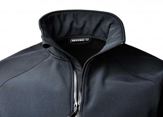 Die sportliche SEATEC Softshell-Jacke ist atmungsaktiv und bietet hohen Tragekomfort. Das Außenmaterial ist wind- und wasserabweisend. (Bild 7 von 11)