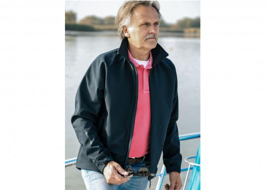 Die sportliche SEATEC Softshell-Jacke ist atmungsaktiv und bietet hohen Tragekomfort. Das Außenmaterial ist wind- und wasserabweisend. (Bild 4 von 11)