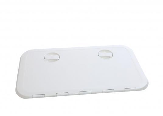 Originale Tür für den Technik-Raum Ihrer Yacht von BAVARIA.   Außenabmessungen:600 x 355mm  Innenabmessungen: 530 x 285 mm  Farbe: weiß   (Bild 2 von 3)
