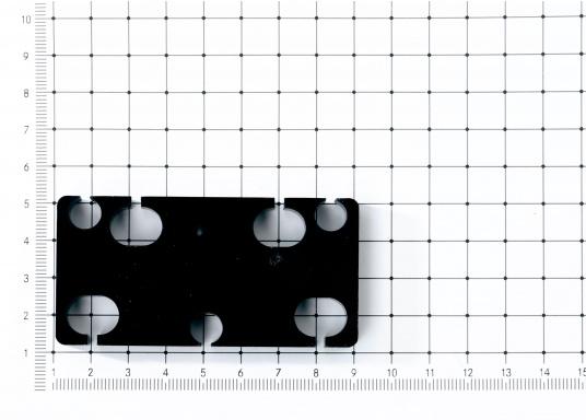 Originaler Schiebedach-Gleiter (Zwischenplatte 6, kurz, hinten) für Ihre Yacht von BAVARIA. Die Abmessungen betragen 80 x 40 x 7,5 mm. (Bild 2 von 2)