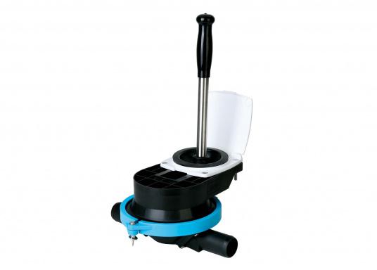 """Originale Handlenzpumpe von BAVARIA dient hervorragend als Unterdeck-Variante mit 1"""" (25 mm) Schlauchanschluss und förder bis zu 50 l/min."""