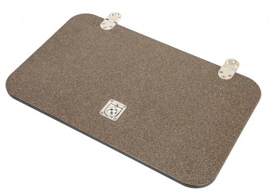 BAVARIA Abdeckung Kühlbox HPL-Kompakt, schwarz Dekor braun.