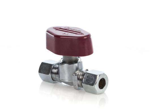 Originales Schnellschlussventil mit einer beidseitigen Schneidringverschraubung 10 mm.