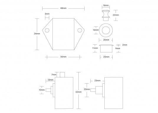 Originales Druckschloss Mini für Ihre Yacht von BAVARIA.  (Bild 4 von 4)