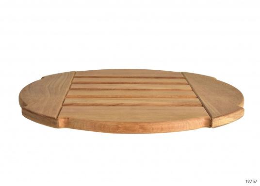 Originales rundes Duschrost aus Teak mit einem Durchmesser von 44 cm für Ihre BAVARIA Yacht. (Bild 2 von 2)
