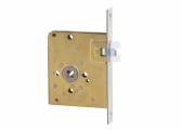 Toilet mortoise lock with crank latch