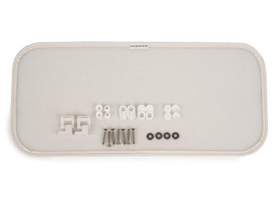 BAVARIA Fliegengitter für weißen Innenrahmen / 500 x 220 mm