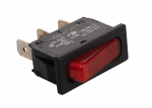 Rocker switch / red