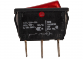 Rocker switch / red